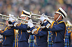 Oct. 20, 2012; The Notre Dame Marching Band performs before kickoff...Photo by Matt Cashore.