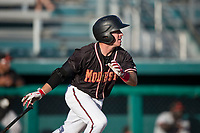 Modesto Nuts second baseman Donnie Walton (7) follows through on his swing during a California League game against the San Jose Giants at John Thurman Field on May 9, 2018 in Modesto, California. San Jose defeated Modesto 9-5. (Zachary Lucy/Four Seam Images)