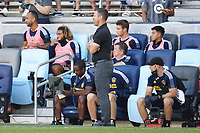 ST PAUL, MN - AUGUST 14: Los Angeles Galaxy head coach Greg Vanney during a game between Los Angeles Galaxy and Minnesota United FC at Allianz Field on August 14, 2021 in St Paul, Minnesota.