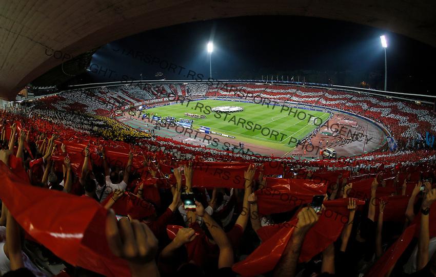 stadion total UEFA Champions Legaue football match between Crvena Zvezda and Napoli in Belgrade, Serbia on September 18. 2018. (credit image & photo: STARSPORT/ Pedja Milosavljevic)