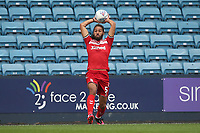 Ryan Shotton of Middlesbrough launches a throw-in during Millwall vs Middlesbrough, Sky Bet EFL Championship Football at The Den on 8th July 2020
