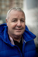 1987 Giro winner Stephen Roche (IRE) visiting the race as a guest<br /> <br /> Stage 2: Bologna to Fucecchio (200km)<br /> 102nd Giro d'Italia 2019<br /> <br /> ©kramon
