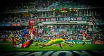 Wales play Australia on Day 1 of the Cathay Pacific / HSBC Hong Kong Sevens 2013 at Hong Kong Stadium, Hong Kong. Photo by Victor Fraile / The Power of Sport Images