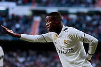 Real Madrid's Vinicius Jr. celebrate goal during La Liga match between Real Madrid and Real Valladolid at Santiago Bernabeu Stadium in Madrid, Spain. November 03, 2018. (ALTERPHOTOS/A. Perez Meca)<br /> Liga Campionato Spagna 2018/2019<br /> Foto Alterphotos / Insidefoto <br /> ITALY ONLY