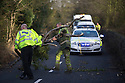 11/01/17<br />  <br /> A policeman helps to clear storm debris from the road near Alton, Staffordshire. <br /> <br /> All Rights Reserved F Stop Press Ltd. (0)1773 550665   www.fstoppress.com