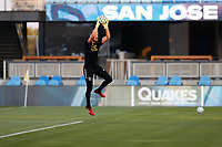 SAN JOSE, CA - SEPTEMBER 5: Clint Irwin #1 of the Colorado Rapids before a game between Colorado Rapids and San Jose Earthquakes at Earthquakes Stadium on September 5, 2020 in San Jose, California.