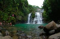 visitors at Nauyaca Waterfalls, Costa Rica, Pacific Ocean