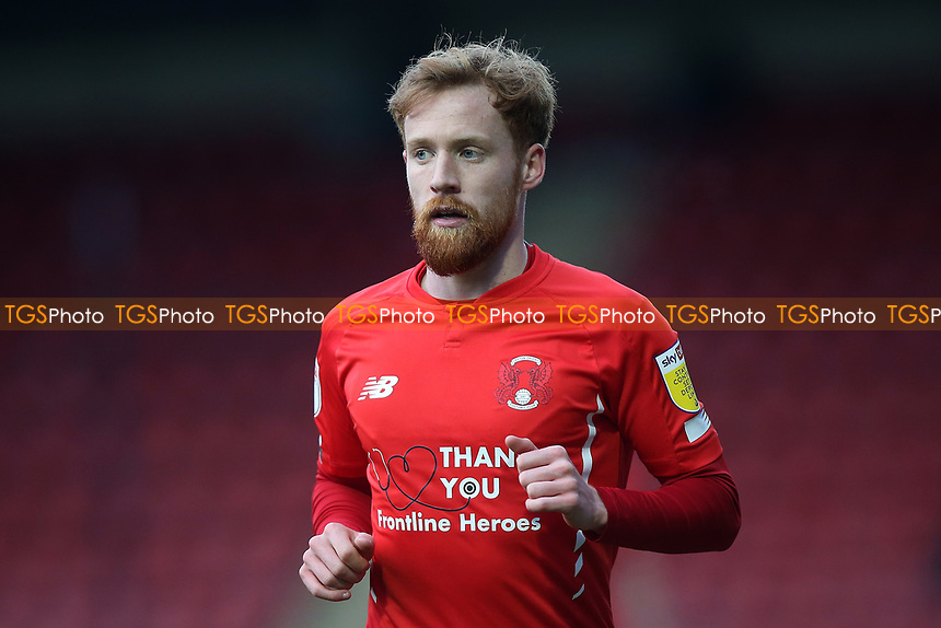 James Brophy of Leyton Orient during Leyton Orient vs Salford City, Sky Bet EFL League 2 Football at The Breyer Group Stadium on 2nd January 2021