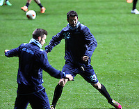 Raul Albiol of Napoli during training