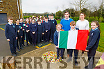 Viva l'Italia as the students from O'Bhréanainn NS in Kielduff will be heading to Italy as part of the Erasmus programme. <br /> Front holding the flag: Caitlin Roche, Daniel Creigh and Fiona O'Connor.<br /> Teachers: Eamonn Sheehy and Mary Slattery.