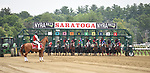 July 11, 2019 :  Horses break from the starting gate to oepn the summer meet at Saratoga Race Course in Saratoga Springs, New York. Alex Zhang/Eclipse Sportswire/CSM