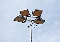 August 24, 2014, Netherlands, Amstelveen, De Kegel, National Veterans Championships, Floodlights over tennis courts<br /> Photo: Tennisimages/Henk Koster
