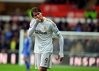 Saturday, 03 November 2012<br /> Pictured: <br /> Re: Barclays Premier League, Swansea City FC v Chelsea at the Liberty Stadium, south Wales.<br /> Michu of Swansea