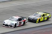 #20: Harrison Burton, Joe Gibbs Racing, Toyota Supra Fields/DEX Imaging, #19: Brandon Jones, Joe Gibbs Racing, Toyota Supra Menards/Pelonis