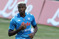 Victor Osimhen of SSC Napoli celebrates after scoring a goal<br /> during the friendly football match between SSC Napoli and L Aquila 1927 at stadio Patini in Castel di Sangro, Italy, August 28, 2020. <br /> Photo Cesare Purini / Insidefoto