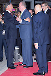"02.10.2012. King Juan Carlos I of Spain attends the delivery of the ""New Economy Forum Awards 2011 and 2012"" to the Portuguese Republic and the Italian Republic, in the person of its Presidents, Anibal Cavaco Silva and Giorgio Napolitano respectively, at the Teatro de la Zarzuela in Madrid, Spain. In the image King Juan Carlos Giorgio Napolitano  and Anibal Cavaco  (Alterphotos/Marta Gonzalez)"