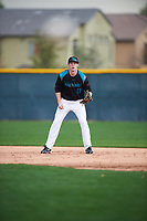 Kale Rhame (17) of Chapin High School in Chapin, South Carolina during the Under Armour All-American Pre-Season Tournament presented by Baseball Factory on January 14, 2017 at Sloan Park in Mesa, Arizona.  (Mike Janes/MJP/Four Seam Images)