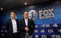 BOGOTÁ - COLOMBIA, 28-01-2018:  Carlos Martínez (Der), Presidente de FOX Networks Group Latin America y Hernán Donnari (Izq), VP Fox Sports Latin America at Fox Network Group durante rueda de prensa antes del encuentro entre Independiente Santa Fe y el América de Cali  por la final del torneo Fox Sports 2018 jugado en el estadio Nemesio Camacho El Campin de la ciudad de Bogota. / Carlos Martínez (R), President of FOX Networks Group Latin America and Hernán Donnari (L), VP Fox Sports Latin America at Fox Network Group during a press conference before the meeting between Independiente Santa Fe and América de Cali for the final of the Fox Sports 2018 tournament played at the Nemesio Camacho Stadium The Campin of the city of Bogota. Photo: VizzorImage/ Felipe Caicedo / Staff