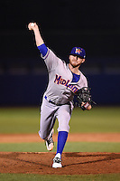 Midland RockHounds pitcher Ryan Doolittle (20) delivers a pitch during a game against the Tulsa Drillers on May 31, 2014 at ONEOK Field in Tulsa, Oklahoma.  Tulsa defeated Midland 5-3.  (Mike Janes/Four Seam Images)