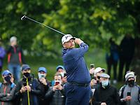 3rd July 2021; Mount Juliet Golf Club, Kilkenny, Ireland; Dubai Duty Free Irish Open Golf, Day Three; Shane Lowery of the Republic of Ireland tees off on the 2nd hole