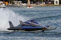 13-14 June, 2009, APBA Inboards, Walled Lake, Novi, MI. USA.Patrick Sankuer, Jr., GNH-6, Grand National hydroplane.©F. Peirce Williams 2009 USA.F.Peirce Williams.photography.ref: RAW (.NEF) File Available