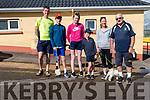 Donagh, Darragh, Aoife, Eoghan and Catrióna Mathuna with Derry Murphy (Ballymore) at the start of the Siúlóid na Féile Lios Póil on Monday morning.