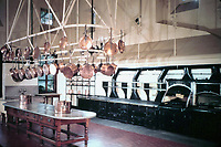 "Kitchen in ""The Breakers"" designed by Richard Hunt. Newport, Rhode Island."