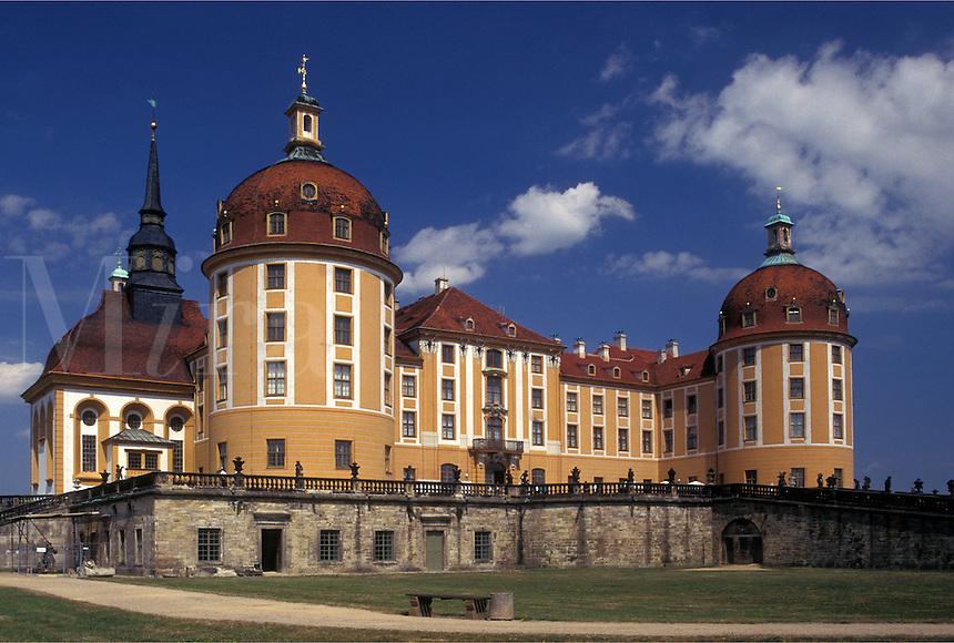 castle, Moritzburg, Dresden, Germany, Saxony, Sachen, Europe, Jagdschloss Moritzburg built in 1730