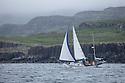 Yatch off the coast of Mull, Scotalnd, UK.