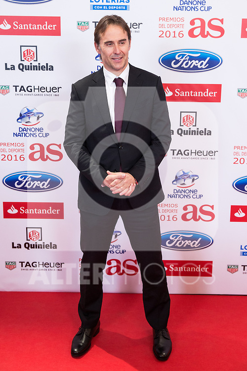 "Julen Lopetegui during the ""As sports Awards"" at Palace Hotel in Madrid, Spain. december 19, 2016. (ALTERPHOTOS/Rodrigo Jimenez)"