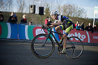 Jolien Verschueren (BEL/Decock Woningbouw) a few meters away from finishing 4th<br /> <br /> Superprestige Francorchamps 2014
