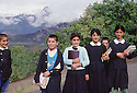 Turkey 1987.Schoolchildren on their way to school in Beit Shebab.Turquie 1987.Ecoliers sur le chemin de l'ecole a Beit Shebab