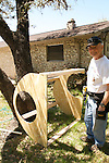 Grandfather that came into town all the way from Dallas to help with the playscape build.  He built this great playhouse for the preschoolers.