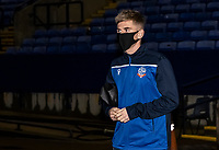 Bolton Wanderers' Jak Hickman arriving at the stadium <br /> <br /> Photographer Andrew Kearns/CameraSport<br /> <br /> The EFL Sky Bet League Two - Bolton Wanderers v Mansfield Town - Tuesday 3rd November 2020 - University of Bolton Stadium - Bolton<br /> <br /> World Copyright © 2020 CameraSport. All rights reserved. 43 Linden Ave. Countesthorpe. Leicester. England. LE8 5PG - Tel: +44 (0) 116 277 4147 - admin@camerasport.com - www.camerasport.com