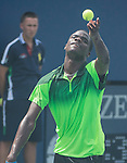 Francis Tiafoe (USA) defeats Chan-yeong Oh (KOR) 6-2, 6-3 in a Juniors match  at the US Open being played at USTA Billie Jean King National Tennis Center in Flushing, NY on August 31, 2014