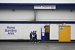 Chester City 1 Altrincham 3, 21/11/2009. Deva Stadium, Football Conference. Three young supporters making their way into the Harry McNally Stand of the Deva Stadium, Chester, home of Chester City Football Club, before kick-off in the club's Blue Square Premier fixture against Cheshire rivals Altrincham. The visitors won by three goals to one. Chester were in administration at the start of the season and were penalised 25 points before the season began. Photo by Colin McPherson.