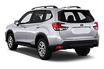 Car pictures of rear three quarter view of a 2020 Subaru Forester Premium 5 Door Wagon angular rear
