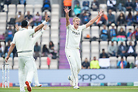 Kyle Jamieson, New Zealand unsuccessfully appeals for the wicket of Rishabh Pant, India during India vs New Zealand, ICC World Test Championship Final Cricket at The Hampshire Bowl on 20th June 2021