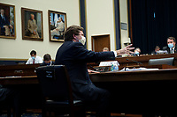 Securities and Exchange Commission Chairman Jay Clayton speaks during a hearing of the House Financial Services Committee's subcommittee on Investor Protection, Entrepreneurship, and Capital Markets on Capitol Hill June 25, 2020, in Washington, DC.<br /> Credit: Brendan Smialowski / Pool via CNP/AdMedia