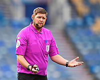 Referee Brett Huxtable  during Portsmouth vs Doncaster Rovers, Sky Bet EFL League 1 Football at Fratton Park on 17th October 2020