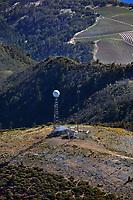 aerial photograph of the summit of Mount Saint Helana, Napa County, California