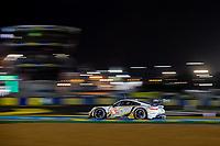 #46 Team Project 1 Porsche 911 RSR - 19 LMGTE Am, Dennis Olsen, Anders Buchardt, Robert Foley, 24 Hours of Le Mans , Race, Circuit des 24 Heures, Le Mans, Pays da Loire, France