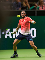 Rotterdam, The Netherlands, 13 Februari 2019, ABNAMRO World Tennis Tournament, Ahoy,  Damir Dzumhur (BIH),<br /> Photo: www.tennisimages.com/Henk Koster