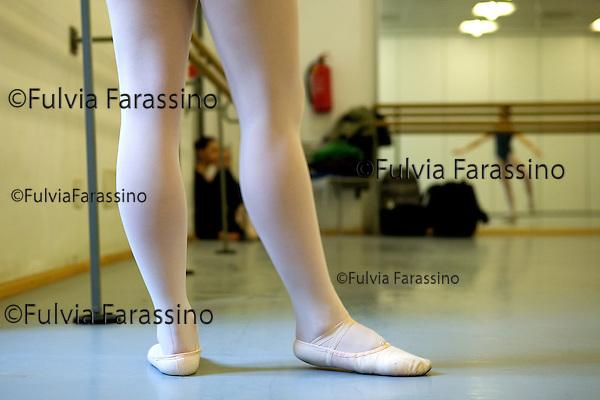 Milano 14 gennaio 2008.Accademia Teatro Alla Scala - Dipartimento Danza Scuola di Ballo