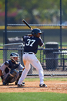 New York Yankees Isiah Gilliam (37) at bat during a minor league Spring Training game against the Detroit Tigers on March 22, 2017 at the Yankees Complex in Tampa, Florida.  (Mike Janes/Four Seam Images)