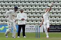 Charlie Morris of Worcestershire in bowling action during Worcestershire CCC vs Essex CCC, LV Insurance County Championship Group 1 Cricket at New Road on 29th April 2021