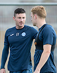 St Johnstone Training….15.09.17<br />Michael O'Halloran and Liam Craig pictured during training this morning at McDiarmid Park ahead of tomorrow's game at Dundee<br />Picture by Graeme Hart.<br />Copyright Perthshire Picture Agency<br />Tel: 01738 623350  Mobile: 07990 594431