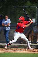 Philadelphia Phillies J.P. Crawford (4) during an instructional league game against the Toronto Blue Jays on October 3, 2015 at the Carpenter Complex in Clearwater, Florida.  (Mike Janes/Four Seam Images)