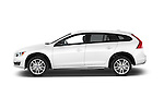 Car Driver side profile view of a 2018 Volvo V60 T5-Cross-Country 5 Door Wagon Side View