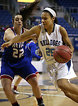 Centennial's Samantha Thomas drives past Reno's Mckain Murdock during the NIAA Division I state basketball tournament in Reno, Nev. on Thursday, Feb. 25, 2016. Centennial won 82-53. Cathleen Allison/Las Vegas Review-Journal
